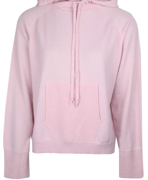 Pale pink cashmere hoodie