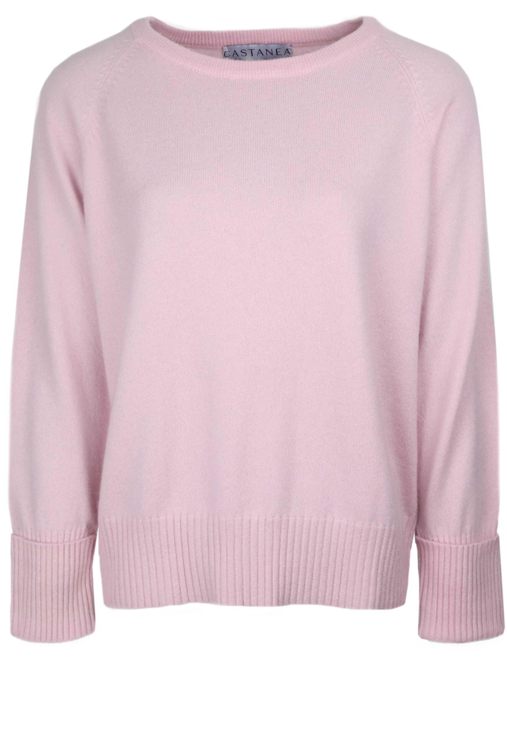 Pale pink relaxed cashmere sweater
